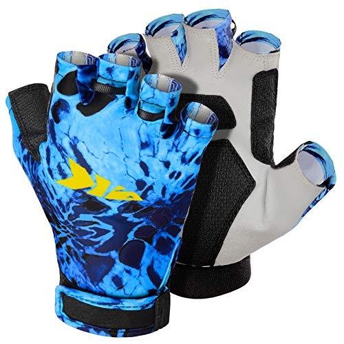 KastKing Gil Raker Gloves UPF50+ Fishing Gloves UV Protection Gloves Sun Gloves for Men Or Women for Fishing, Outdoor, Kayaking, Rowing, Sailing, Canoeing, Hiking, Biking - Shoreline Prym1, Large