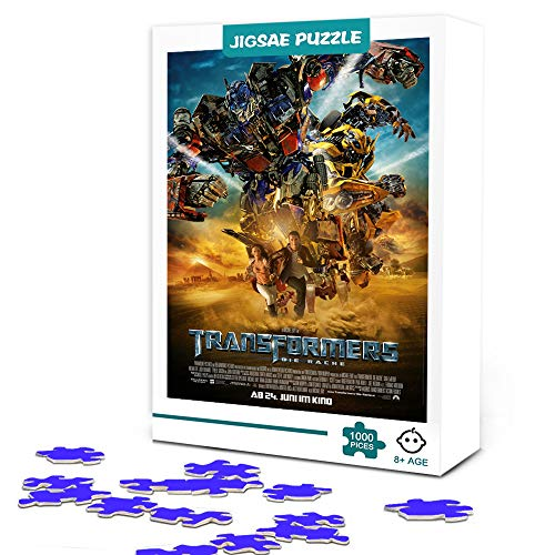 zhangkk 500 Piezas de Rompecabezas de Madera para Adultos, niños Transformers: Optimus Prime Puzzle 500 Piezas de Rompecabezas para niños , Juegos educativos, Entretenimiento, Regalo. Los 52X38cm