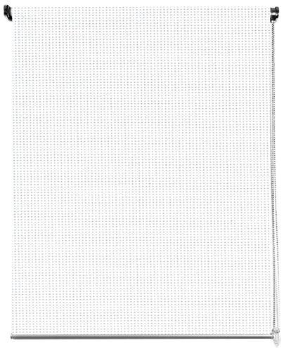 Cortina Enrollable Black Out - 100% Opaca, Tamaño 120 x 180 cm, Color Blanco