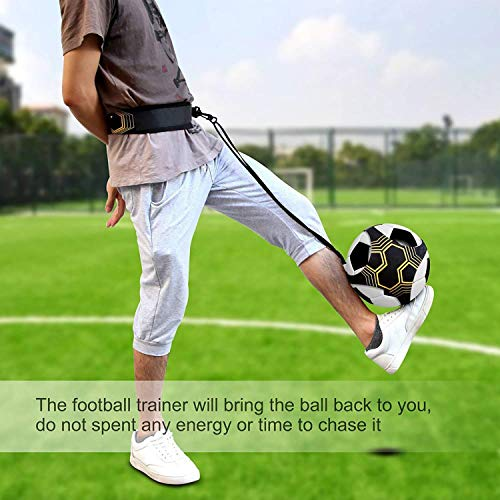 U&X 2 Pack Football Kick Trainer, Soccer Training Aid for Kids and Adults Solo Practice Training Fit Football Skills Improvement for Size 3 4 5 Footballs