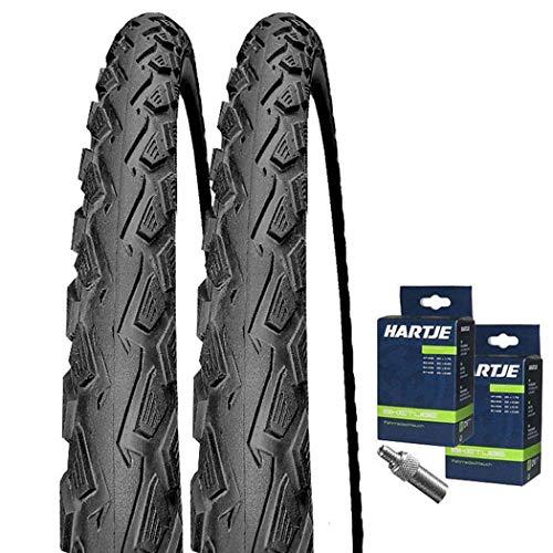 Set: 2 x Schwalbe Land Cruiser schwarz Reifen 24x1.75/47-507 + Schläuche Dunlopventil