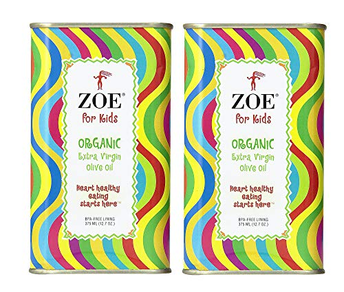 ZOE for Kids Organic Extra Virgin Olive Oil, 12.7 Ounce Tin (Pack of 2)
