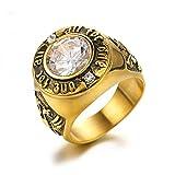 brave リング メンズ クロムハーツ風 指輪 ファッション アクセサリー (ゴルード, 17)