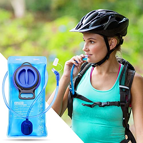 SKL Hydration Bladder 2 Liter Water Bladder,Water Reservoir Leak Proof Hydration Pack Storage Bladder Bag with Quick Release Insulated Tube for Hiking Cycling Running