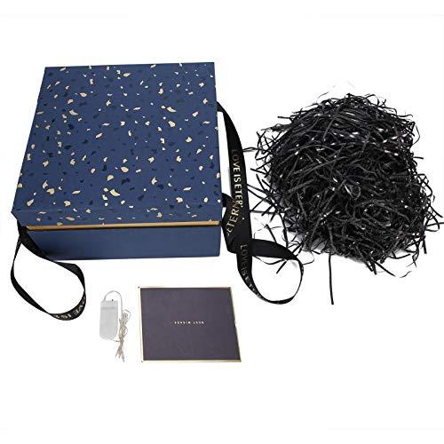 Regalo, regalo Caja de almacenamiento de aromaterapia cosmaterapia cosmaterapia de la aromaterapia, para bodas, regalo de cumpleaños y día de San Valentín con una tarjeta de felicitación y papel de se