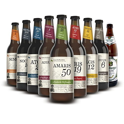 Craft Beer Paket Riegele Biere, MEHRWEG (8 x 0.66 l, 1 x 0.5 l)