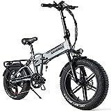 SAMEBIKE Bicicleta Electrica Montaña de 20 Pulgadas 500 W, Bicicleta Eléctrica Plegable con...