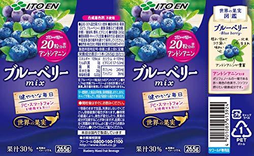 伊藤園世界の果実ブルーベリーmix265g×24本