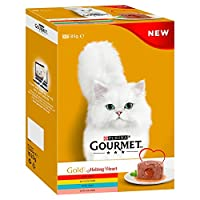 Melting Heart Meat & Fish Complete pet food for adult cats 100% complete and balanced nutritional pet food for adult cats (aged 1 to 7) Our Gourmet Gold Melting Heart multipack contains delicious recipes with Beef, Chicken, Tuna, Salmon