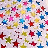 JZK 2450 PCS 1.6cm Pequeñas pegatinas estrellas de plástico coloridas para tabla de recompensas para niños, etiquetas pegatinas de estrellas para calendarios, pizarra planificador, álbumes de recortes