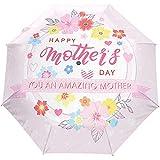 El Día de la Madre Flor Floral Puede Paraguas Abierto Automático Paraguas de Lluvia Solar Paraguas Anti UV Plegable Compacto Automático
