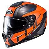 HJC Helmets Casco de moto RPHA 70 VIAS MC7SF, Negro/Oroange, S (2432_25637)