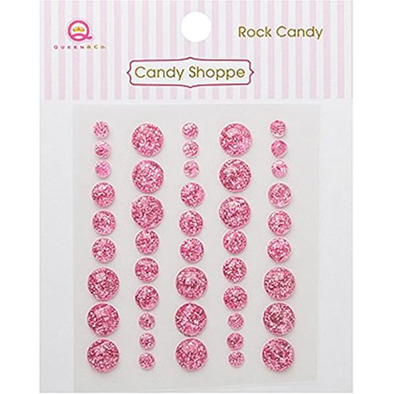 Queen & Co Candy Shoppe Self-Adhesive Rock Candy Dots Embellishments, 4, 6 and 8mm, Pink