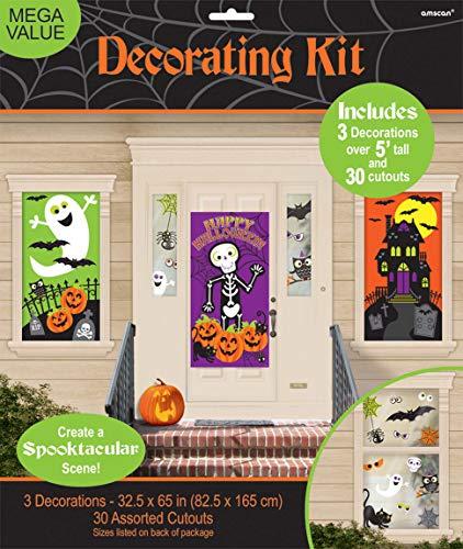 amscan Kit de décorations murales de fête Family Friendly Halloween