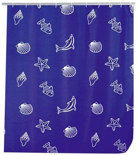 WENKO 19183100 Duschvorhang Seaside - hochwertiges Textilgewebe, 240 x 180 cm