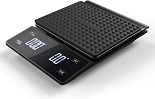 Coffee Scale with Timer 3kg/0.1g High Precision Pour Over Drip Espresso Scale with Back-Lit LCD Display