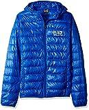 Emporio Armani EA7 Men's Train Core ID Down Light Hoodie Jacket, Royal Blue, Small