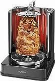Dönergrill für Zuhause Hähnchengrill mit Drehspieß Drehgrill 1500 Watt (Multigrill, Schaschlikspieße, Edelstahl, Rotisserie)