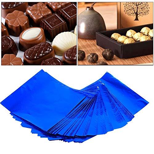 Zetiling Chocolade Wrapping Papier, 100 Pack Candy Wrappers Aluminium folie Verpakking voor Zelfgemaakte Caramel en DIY snoepjes Snoepjes
