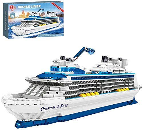 Egrus Yacht Ship Model Kit, 2428 Pieces Cruise Ship Toy Compatible with Lego for Children and Adults