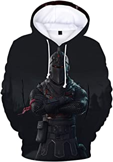 EUGaming Black Knight Hoodies for Mens 3D Printed Hoodies 3D Patterns Printed Shirt Raven Hoodies 2XL