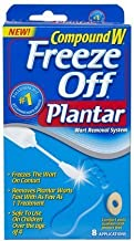 Compound W Freeze Off Wart Remover for Plantar Warts 8 Applications in Each Pack (2 Pack)