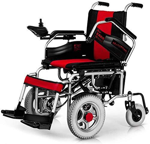 Lüllmann PLLP - Sedia a rotelle per disabili, con 4 ruote, colore: Rosso