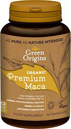 Green Origins Organic Premium Maca Capsules 90 capsule (1 Unit)