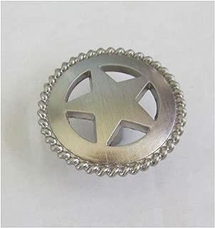 10pcs Star Rope Brush Satin Nickel Cabinet Knob Drawer Pull Screw Texas Western Decor