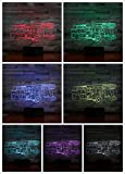 Led Night Light Fire Engine Decoration color change Childrens Kids Nightlight Table Lamp Bedroom Fire Truck Decoration