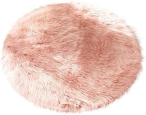 HZYDD Simplicité élégante Furry Tapis Petite Ronde Fluffy for Salon Plaine Chambre Faux bébé Tapis de Jeu