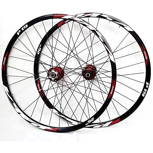 MZZG Ruote per Mountain Bike, 26/27,5/29 Pollici Ruota per Bicicletta Cerchio MTB Sgancio Rapido Anteriore 2 Posteriore 4 Palin 32H CNC Set di Ruote per Lavorazione di Precisione,27.5