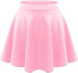UK New Womens//Ladies Chiffon Elasticated Waist Double Layer Skirt Plus Size 6-14