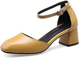 Nine Seven Women's Leather RoundToe Heel Pump