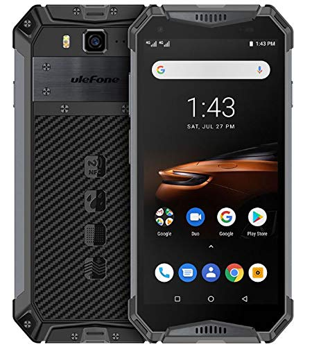 Ulefone Armor 3W - (2019) Outdoor Smartphone ohne Vertrag mit 10300 mAh Akku, Helio P70 6GB + 64GB, 21MP + 8MP Kamera, 5,7 Zoll FHD + Android 9.0 Handy, DUAL SIM/NFC/GPS/Drahtlose Ladung Schwarz