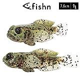 FISHN 5er Set GOBYone 7,6cm 9gr Ultra Realistische Grundel Gummifisch zum Angeln auf Barsch und...