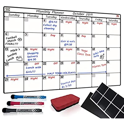 Amazon Co Uk Wall Dry Erase Calendar