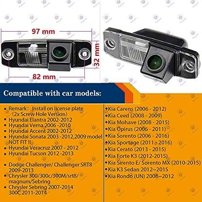170-HD-Kamera-1280x720p-Wasserdicht-Nachtsicht-Kennzeichenleuchte-Rueckfahrkamera-Einparkhilfe-fuer-Hyundai-Tucson-Accent-Elantra-Terracan-Veracruz-Sonata-Jeep-Chrysler-300300CSRT8-MagnumSebring