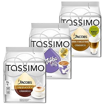 Tassimo Cápsulas de Café Cream Collection, Café con Leche, Chocolate, 3 Variedades, 48 T-Discs (24 tazas)