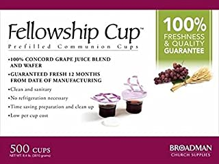 B & H Publishing Group 63431 Commun Fellowship Cup Prefilled Juice Wafer Box Of 500
