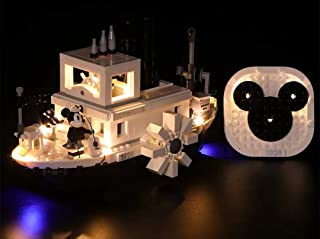 LED Light Kit For Lego 21317 Ideas Disney Steamboat Willie (Lego Set no Included)