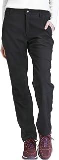 Mujer Pantalones de Softshell Impermeables con Forro Polar, A Prueba de Viento Pantalón de Senderismo, Pantalones para Esquí Snowboard Montaña Escalada Trekking Trabajo Otoño Invierno