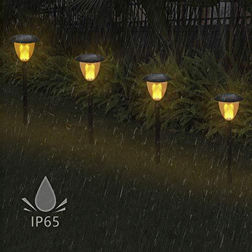 Applique Applique Applique Luce Staffa Luce Fiamma ad Energia Solare Sfarfallio Luce a Led Impermeabile 102 Led Torcia con Spike Lampada per Decorazioni Esterne per Giardino Illuminazione Illuminazio