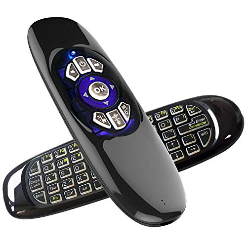 WQM Air Mouse Mini Wireless Keyboard Mouse Integrated TV Computer Set Top Box Flying Mouse Remote Control Luminous (Type B [Luminous + Microphone])