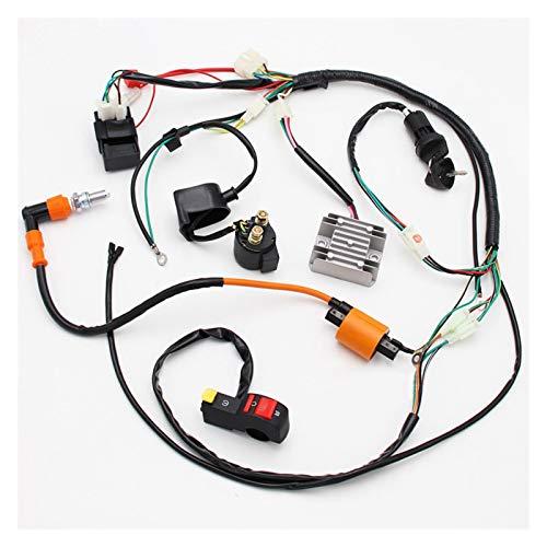 RJJX Komplette Elektrik Kabelbaum Webstuhl CDI-Spule Hohe Qualität Zubehörteil Geeignet für ATV Quad 150/200 / 250 / 300cc