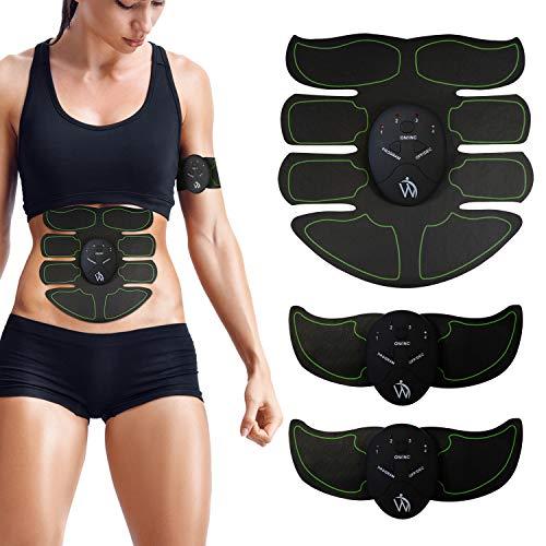 Premium ABS Stimulator Bauchmuskeltrainer Set - EMS Tens Training Gerät elektrisch, Trainer für Bauch, Rücken & Arme mit Elektro Gel Pads, Fitness & Sport, Bauchtrainer Zuhause, Männer & Frauen