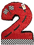 APINATA4U Red Race Car Theme Number Two Pinata 24' Tall