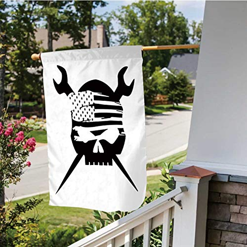 C COABALLA Ironworker Flag,Welcome Garden Flag Double Sided Outdoor Decoration 28''x40''