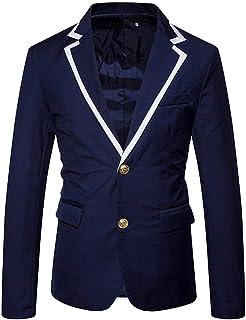 Men's Single Breasted 2 Button Blazer Jacket Leisure Suit Comfortable Sizes Outerwear Slim Fit Stylish Smart Coat Blazer C...