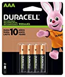 Duracell Rechargeable StayCharged AAA Batteries, 4 Count ( Packaging May Vary)